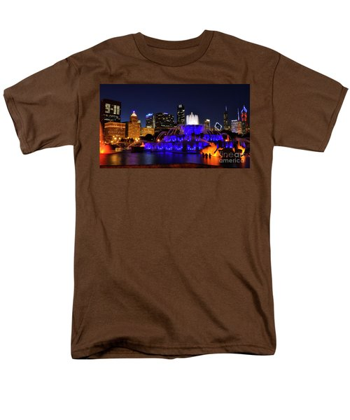 911 Tribute At Buckingham Fountain, Chicago Men's T-Shirt  (Regular Fit) by Zawhaus Photography