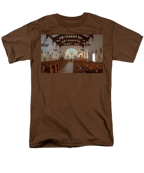 Men's T-Shirt  (Regular Fit) featuring the photograph A Church Is Really Never Empty by Monte Stevens