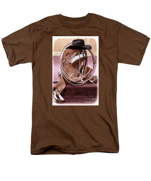 Men's T-Shirt  (Regular Fit) featuring the photograph A Cowboy's Gear by Lawrence Burry