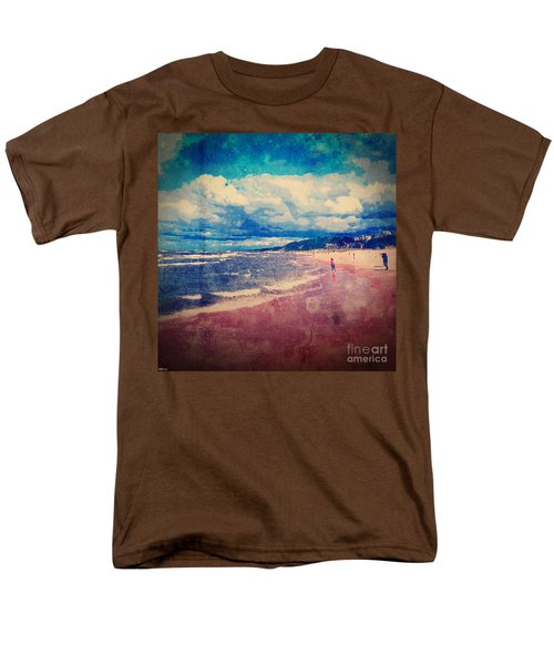 Men's T-Shirt  (Regular Fit) featuring the photograph A Day At The Beach by Phil Perkins