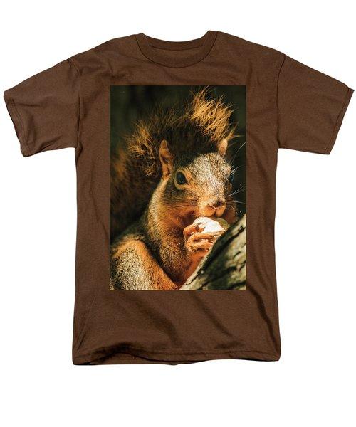 A Squirrel And His Nut Men's T-Shirt  (Regular Fit) by Joni Eskridge
