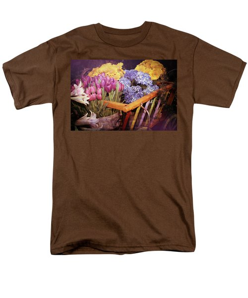 A Wagon Full Of Spring Men's T-Shirt  (Regular Fit) by Patrice Zinck