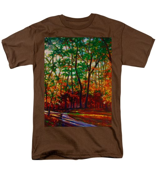 Men's T-Shirt  (Regular Fit) featuring the painting A Walk In The Park by Emery Franklin