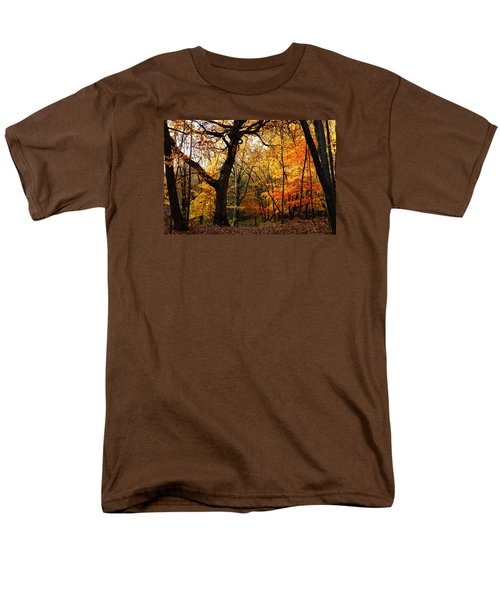 Men's T-Shirt  (Regular Fit) featuring the photograph A Walk In The Woods 3 by Steven Clipperton