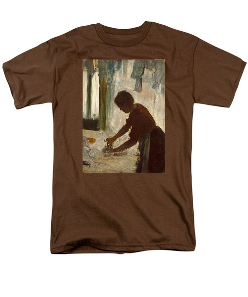 Men's T-Shirt  (Regular Fit) featuring the painting A Woman Ironing by Edgar Degas