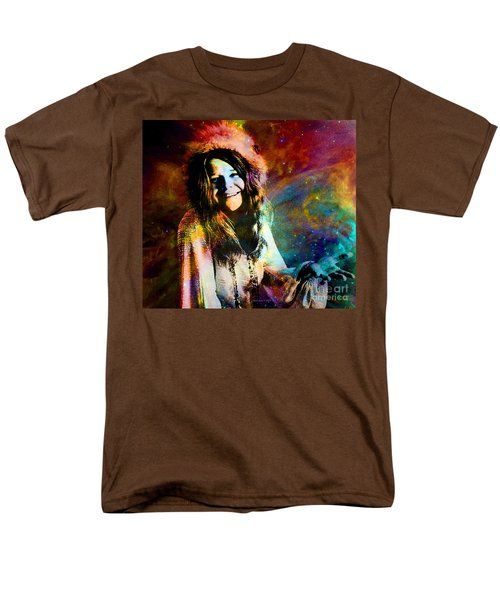 A Woman Of 1970 Rock And Roll Men's T-Shirt  (Regular Fit) by Annie Zeno