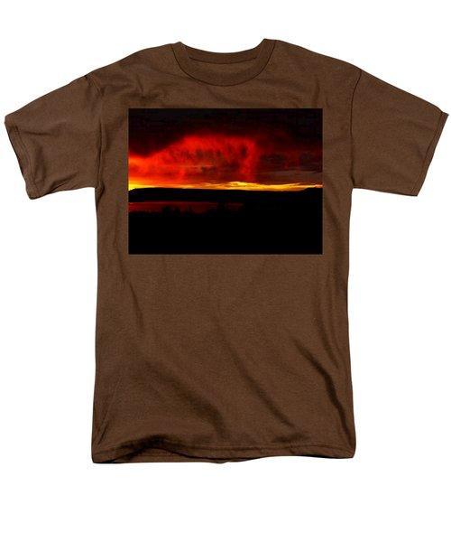 Men's T-Shirt  (Regular Fit) featuring the painting Abiquiu Reservoir  by Dennis Ciscel