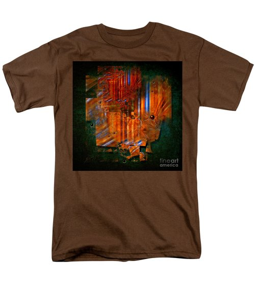 Men's T-Shirt  (Regular Fit) featuring the painting Abstract Fields by Alexa Szlavics
