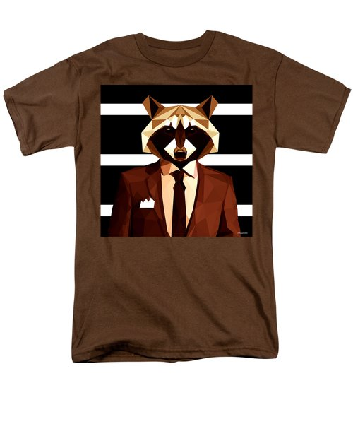 Abstract Geometric Raccoon Men's T-Shirt  (Regular Fit)