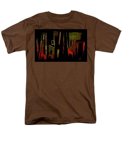 Men's T-Shirt  (Regular Fit) featuring the painting Abstract II - 19dec2016 by Jim Vance