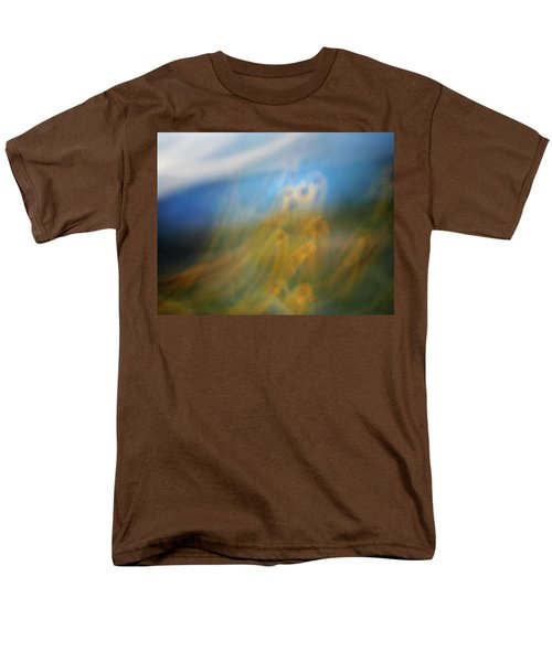 Men's T-Shirt  (Regular Fit) featuring the photograph Abstract Sunflowers by Marilyn Hunt