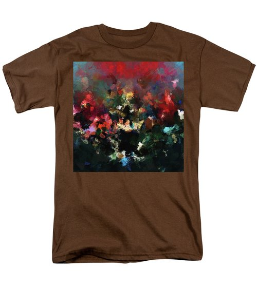 Men's T-Shirt  (Regular Fit) featuring the painting Abstract Wall Art In Dark Colors by Ayse Deniz