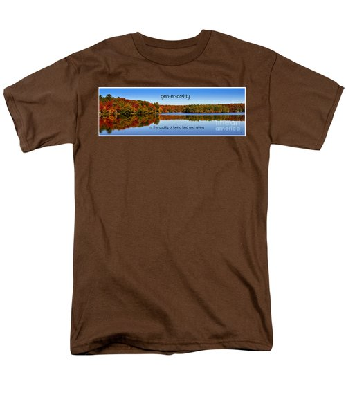 Men's T-Shirt  (Regular Fit) featuring the photograph Adirondack October Generosity by Diane E Berry