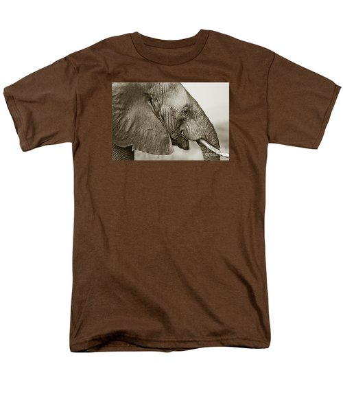 African Elephant Profile  Duotoned Men's T-Shirt  (Regular Fit) by Liz Leyden
