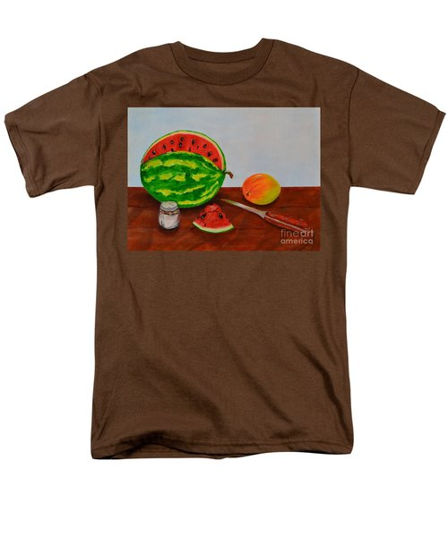 Men's T-Shirt  (Regular Fit) featuring the painting Afternoon Summer Treat by Melvin Turner