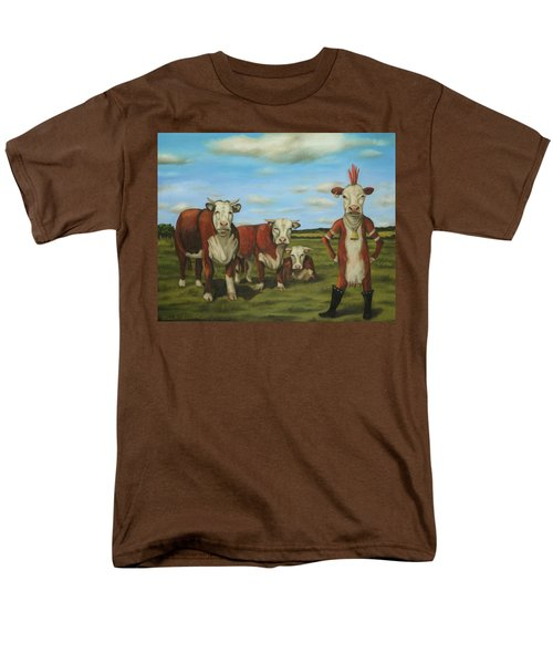 Men's T-Shirt  (Regular Fit) featuring the painting Against The Herd by Leah Saulnier The Painting Maniac