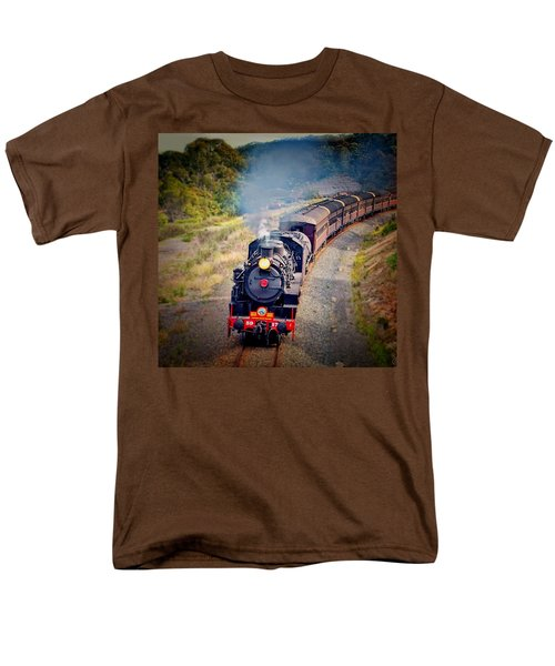 Men's T-Shirt  (Regular Fit) featuring the photograph Age Of Steam by Wallaroo Images