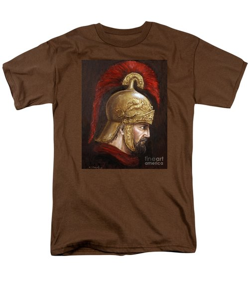Men's T-Shirt  (Regular Fit) featuring the painting Ajax by Arturas Slapsys