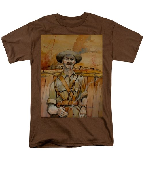 Men's T-Shirt  (Regular Fit) featuring the painting Alfred Shout Vc by Ray Agius