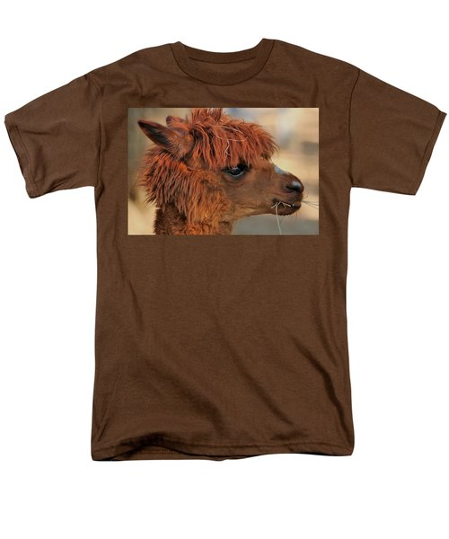 Alpaca Portrait Men's T-Shirt  (Regular Fit) by Sheila Brown