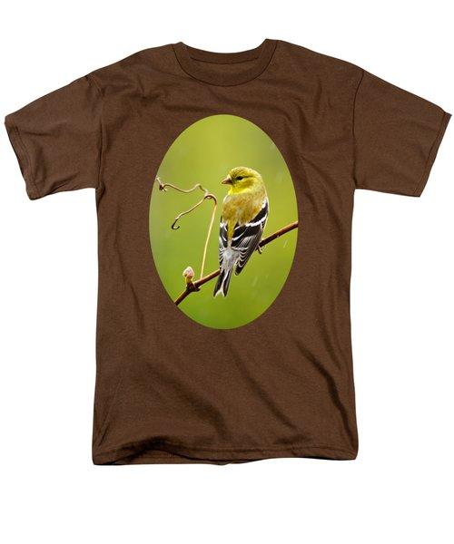 American Goldfinch In The Rain Men's T-Shirt  (Regular Fit)