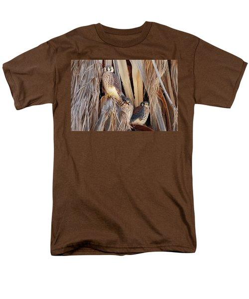 Men's T-Shirt  (Regular Fit) featuring the photograph American Kestrels by Dan Redmon