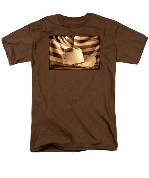 American Rodeo Cowboy Hat Men's T-Shirt  (Regular Fit) by American West Legend By Olivier Le Queinec