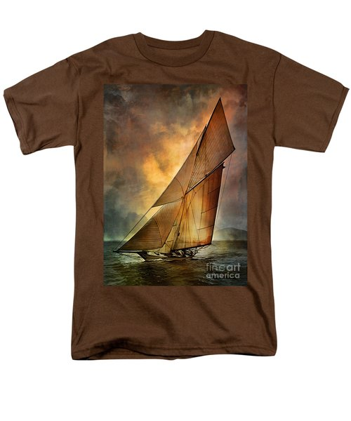 Men's T-Shirt  (Regular Fit) featuring the digital art America's Cup 1 by Andrzej Szczerski