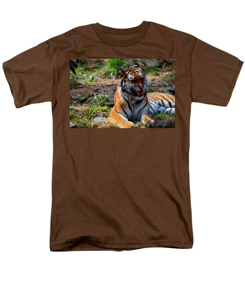 Men's T-Shirt  (Regular Fit) featuring the mixed media Amur Tiger 3 by Angelina Vick