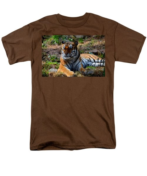 Men's T-Shirt  (Regular Fit) featuring the mixed media Amur Tiger 8 by Angelina Vick
