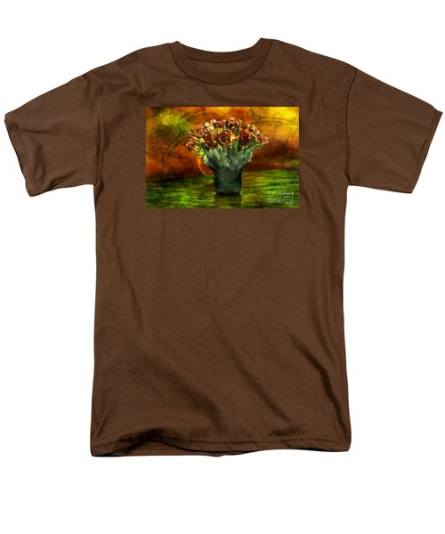 Men's T-Shirt  (Regular Fit) featuring the digital art An Armful Of Tulips by Johnny Hildingsson