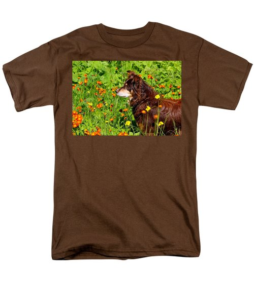 Men's T-Shirt  (Regular Fit) featuring the photograph An Aussie's Thoughtful Moment by Debbie Oppermann