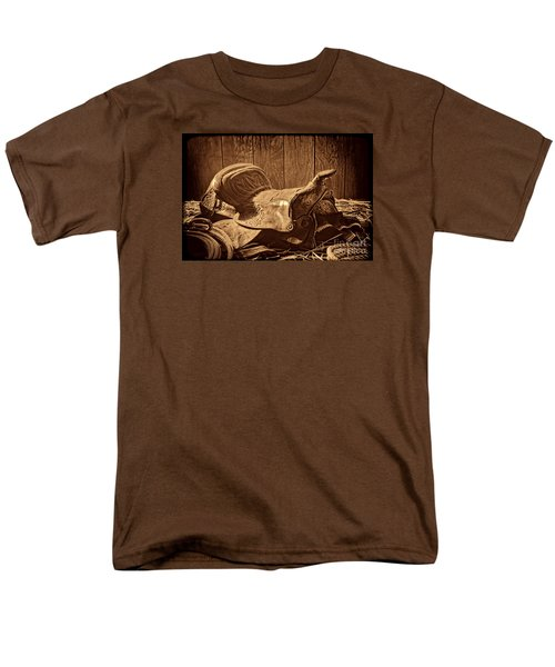 An Old Saddle Men's T-Shirt  (Regular Fit) by American West Legend By Olivier Le Queinec