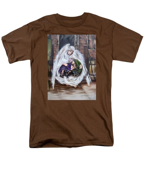 Men's T-Shirt  (Regular Fit) featuring the painting Angel And The Orphans by Sigrid Tune