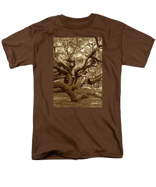 Angel Oak In Sepia Men's T-Shirt  (Regular Fit) by Suzanne Gaff