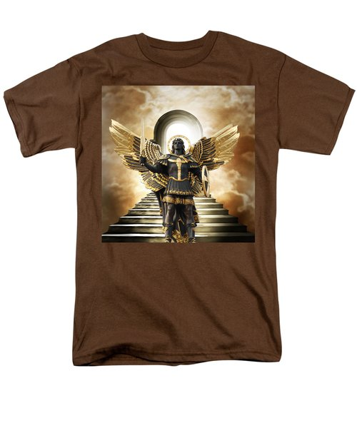 Men's T-Shirt  (Regular Fit) featuring the digital art Angels Watching Over Me by Karen Showell
