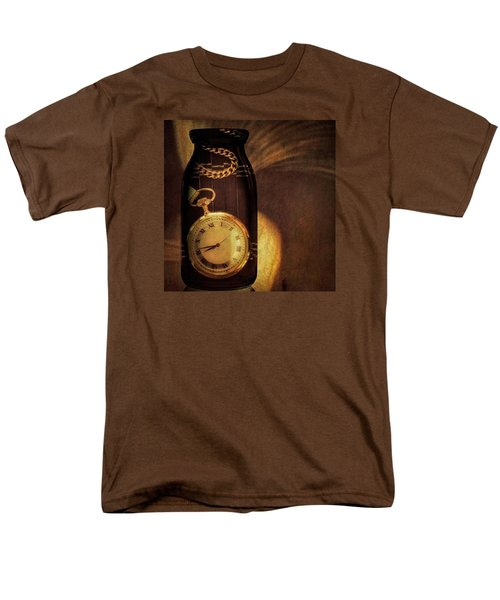 Antique Pocket Watch In A Bottle Men's T-Shirt  (Regular Fit) by Susan Candelario