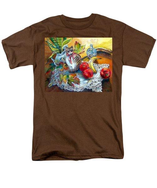 Apple Cat Men's T-Shirt  (Regular Fit)