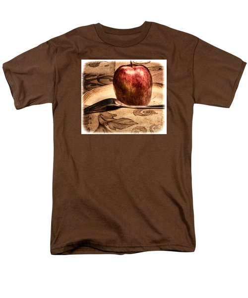 Men's T-Shirt  (Regular Fit) featuring the photograph Apple by Lawrence Burry