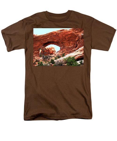 Men's T-Shirt  (Regular Fit) featuring the digital art Arch Face by Gary Baird
