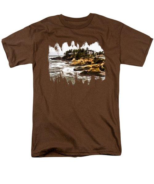 Arch Rock Depoe Bay Men's T-Shirt  (Regular Fit) by Thom Zehrfeld