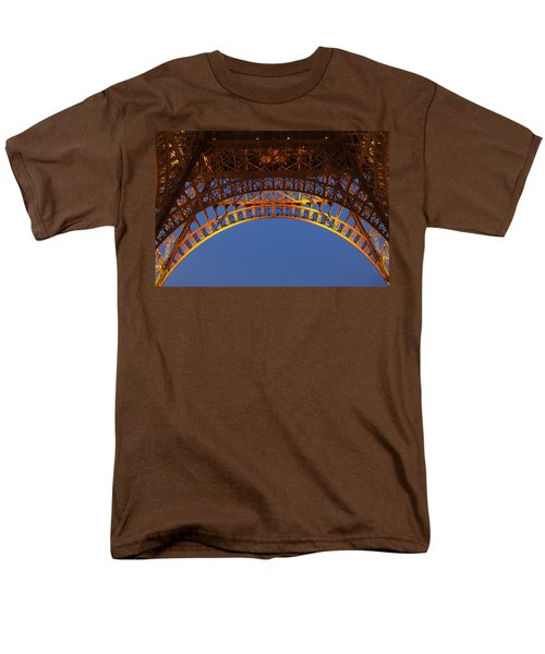 Men's T-Shirt  (Regular Fit) featuring the photograph Arches Of The Eiffel Tower by Andrew Soundarajan
