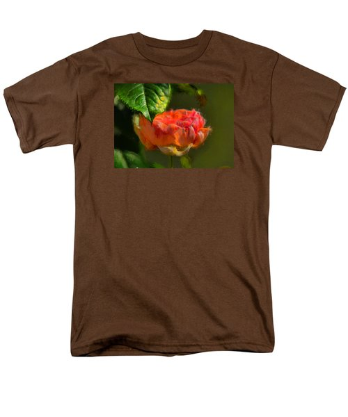 Artistic Rose And Leaf Men's T-Shirt  (Regular Fit) by Leif Sohlman