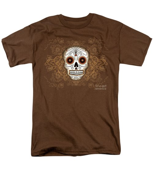 Vintage Sugar Skull Men's T-Shirt  (Regular Fit) by Tammy Wetzel
