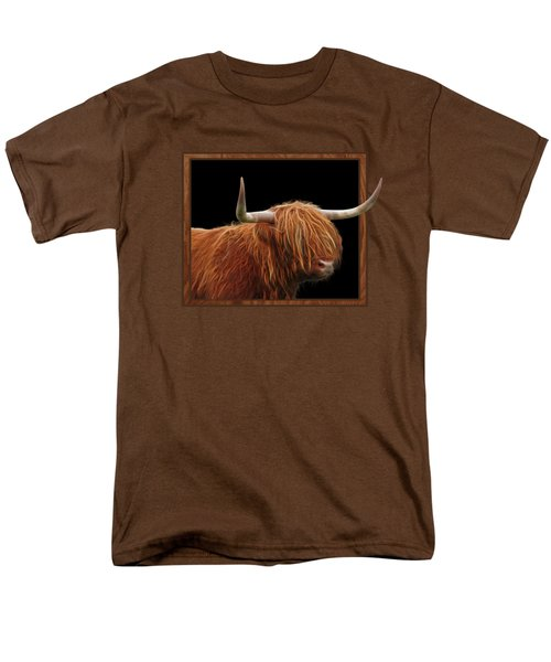 Bad Hair Day - Highland Cow Square Men's T-Shirt  (Regular Fit) by Gill Billington