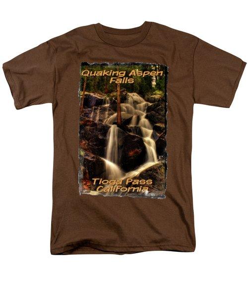 Quaking Aspen Falls Along Tioga Pass  Men's T-Shirt  (Regular Fit) by Roger Passman