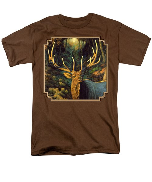 Elk Painting - Autumn Majesty Men's T-Shirt  (Regular Fit) by Crista Forest