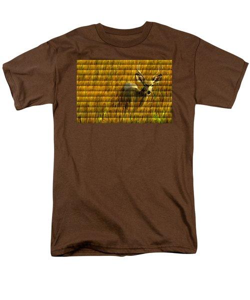 The Buck Poses Here Men's T-Shirt  (Regular Fit) by Bill Kesler