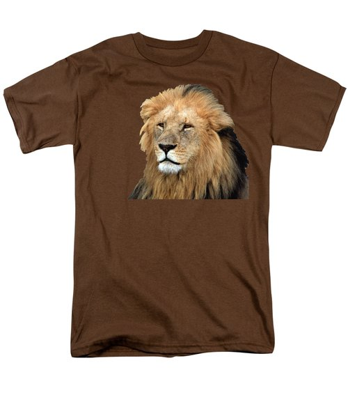 Masai Mara Lion Portrait    Men's T-Shirt  (Regular Fit) by Aidan Moran