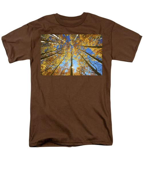 Aspen Tree Canopy 2 Men's T-Shirt  (Regular Fit) by Ron Dahlquist - Printscapes
